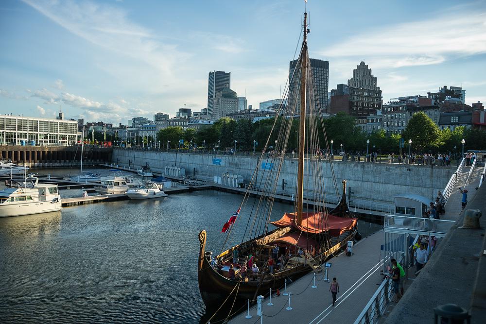 The Draken Harald Herfagre arrivesin Montreal // Photo : Kieron Yates