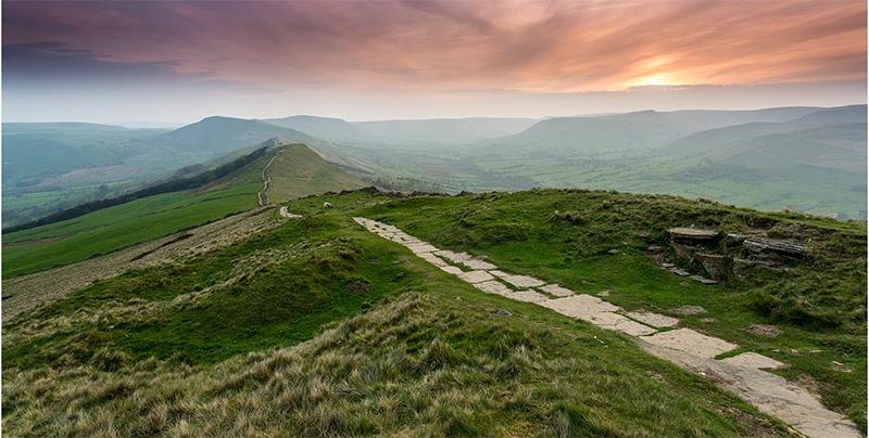 Mom Tor in Derbyshire, England